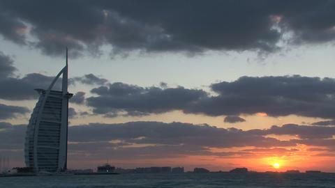 Burj al Arab hotel sunset Footage