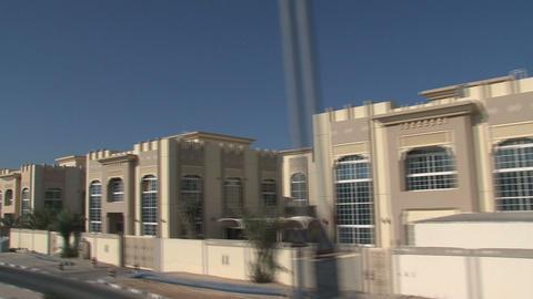 Bus tour through Dubai Stock Video Footage