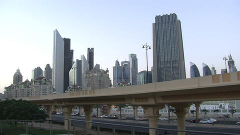 Dubai city time lapse Footage