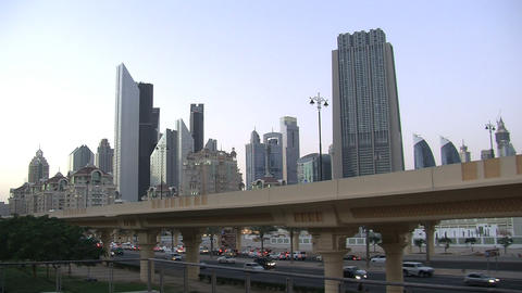 Dubai city time lapse Stock Video Footage