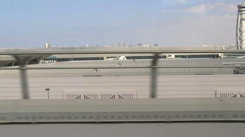 Metro Dubai airport Stock Video Footage