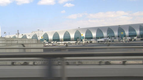 Metro Dubai airport Stock Video Footage