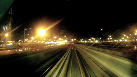 Time lapse metro Dubai Stock Video Footage