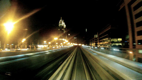 Time lapse metro Dubai Footage