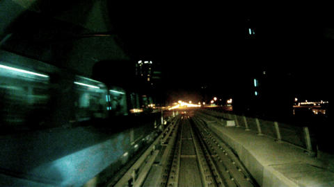 Time lapse metro Dubai Stock Video Footage