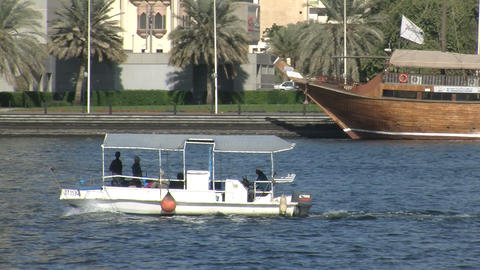 Small watertaxi Stock Video Footage
