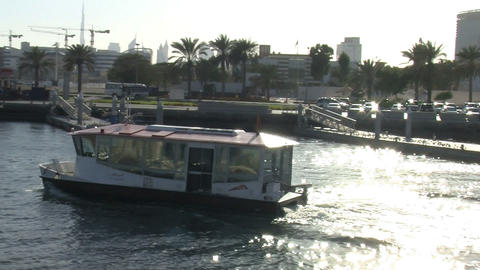 Modern Ferry in harbor Dubai Footage
