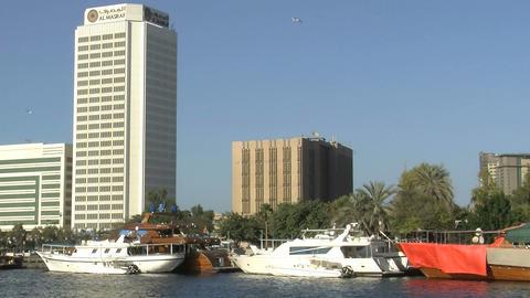 Dubai harbor Stock Video Footage