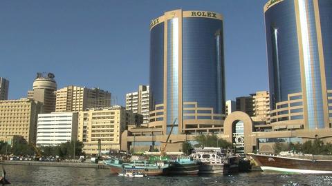 Skyscrapers in Dubai harbor Footage