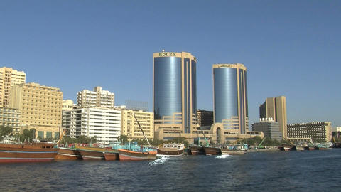 Harbor Dubai stock footage