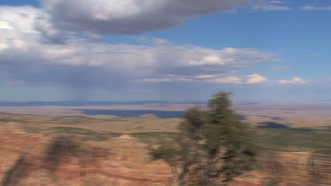 Wide pan from the grand canyon Footage
