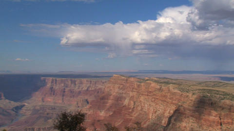 Wide pan from the grand canyon Stock Video Footage