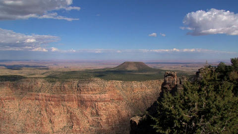 Zoom out from the grand canyon Footage