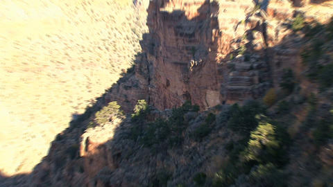 Zoom out from the grand canyon Stock Video Footage