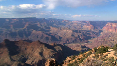 Zoom out fro a river in the Grand Canyon Footage