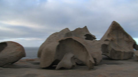 Pan from the Remarkable Rocks Stock Video Footage