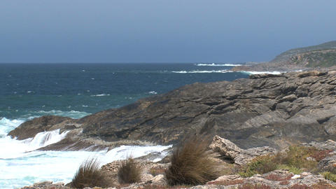 waves collide at Kangaroo Island Stock Video Footage