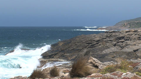 waves collide at Kangaroo Island Footage