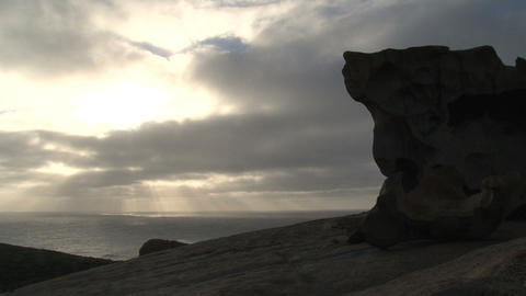 Morning sunshine through the clouds with the Remar Stock Video Footage