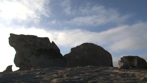 Clouds passing by the Remarkable Rock Footage