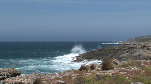 Waves collide at Kangaroo Island shore Footage