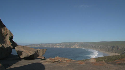 pan from the Remarkable Rocks at the bay Footage