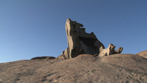 Zoom out from the Remarkable Rock Stock Video Footage
