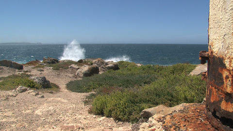 KI 07Wave collide at the rocks at Kangaroo Island Stock Video Footage