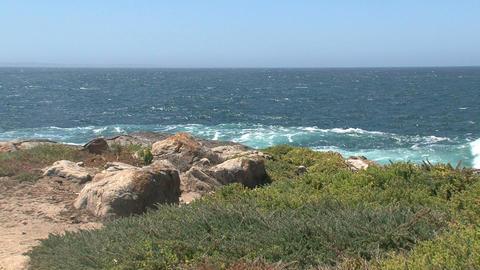 Waves collide at Kangaroo Island shore Stock Video Footage