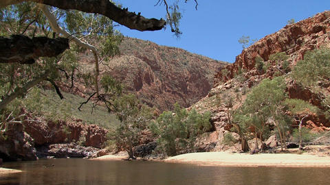 River at the MacDonnell Ranges Stock Video Footage