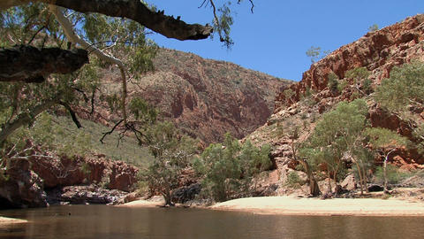 River at the MacDonnell Ranges Footage