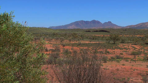 Landscape view from the MacDonnell Ranges in Austr Footage