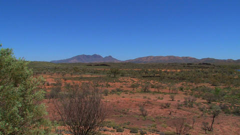 Landscape view from the MacDonnell Ranges in Austr Stock Video Footage