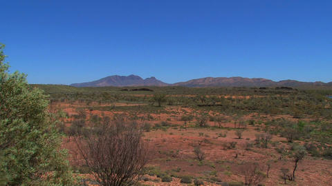 Landscape View From The MacDonnell Ranges In Austr stock footage