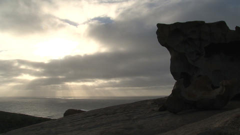 Remarkable rock time lapse Stock Video Footage