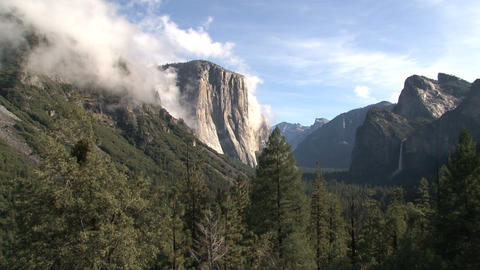 Clouds timelapse moving above the mountains Stock Video Footage