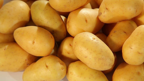 Potatoes - dolly shot Stock Video Footage