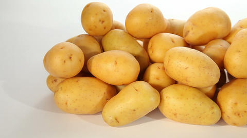 Fresh young potatoes Stock Video Footage