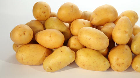 Fresh young potatoes Footage