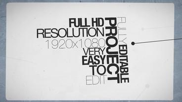 Black & White Typo Apple Motionテンプレート