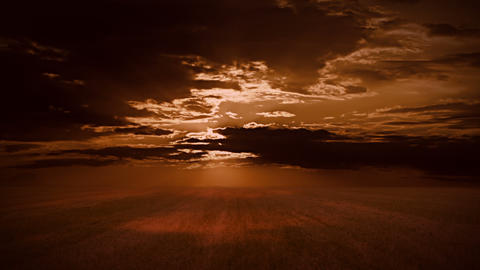 Field and a dramatic sky Stock Video Footage