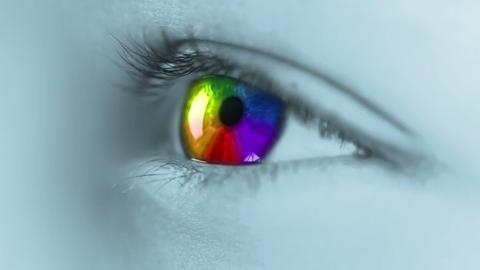 Multicolour iris Stock Video Footage