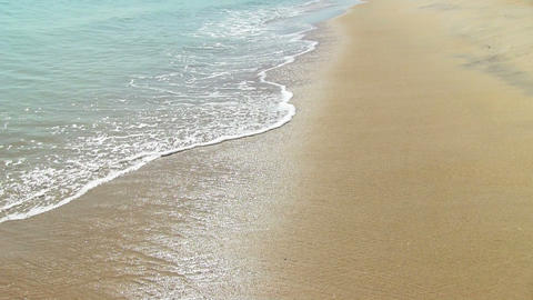 Wave on sand Stock Video Footage