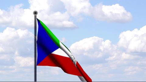 Animated Flag of Equatorial Guinea / Äquatorialgu Stock Video Footage
