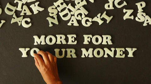 More for your money Stock Video Footage