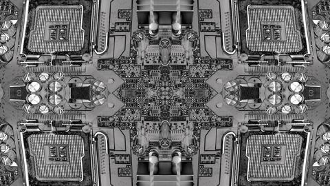 virtual tech computer circuit blueprint background Stock Video Footage