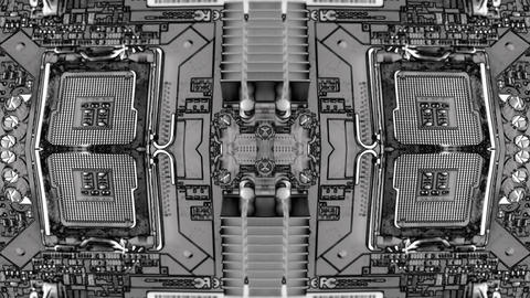 virtual tech computer circuit blueprint background Animation