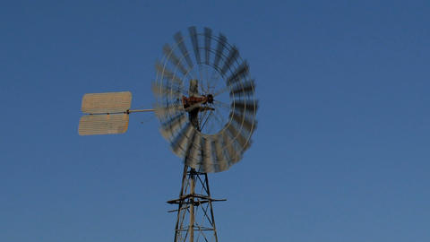 Old windmill Stock Video Footage