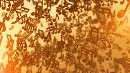 Music notes looping background Animation