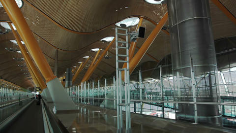 Madrid. Barajas airport Stock Video Footage
